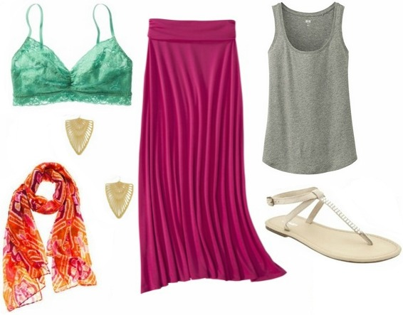 picnic-outfit-maxi-skirt-tank-top-scarf